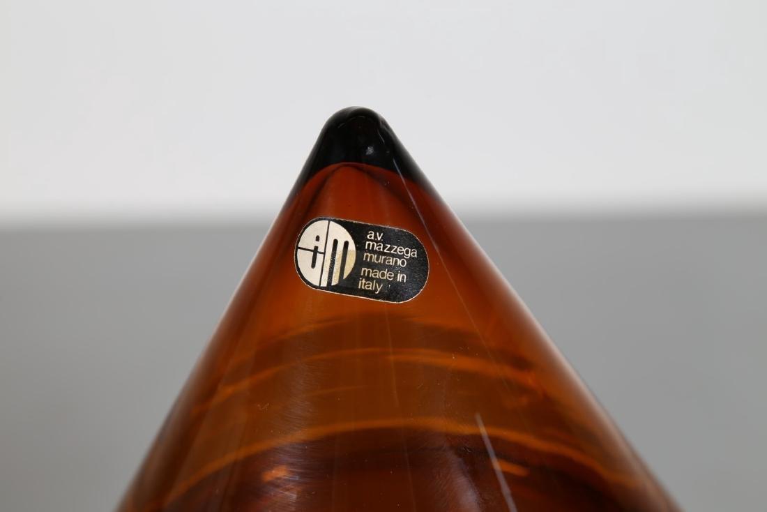 CARLO NASON Contenitore piramidale in vetro ambra, per - 3