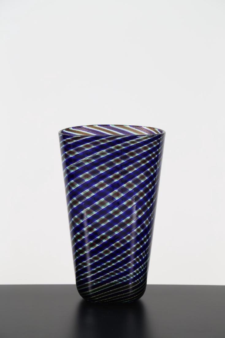 GINO CENEDESE Vaso a spirale anni 60.