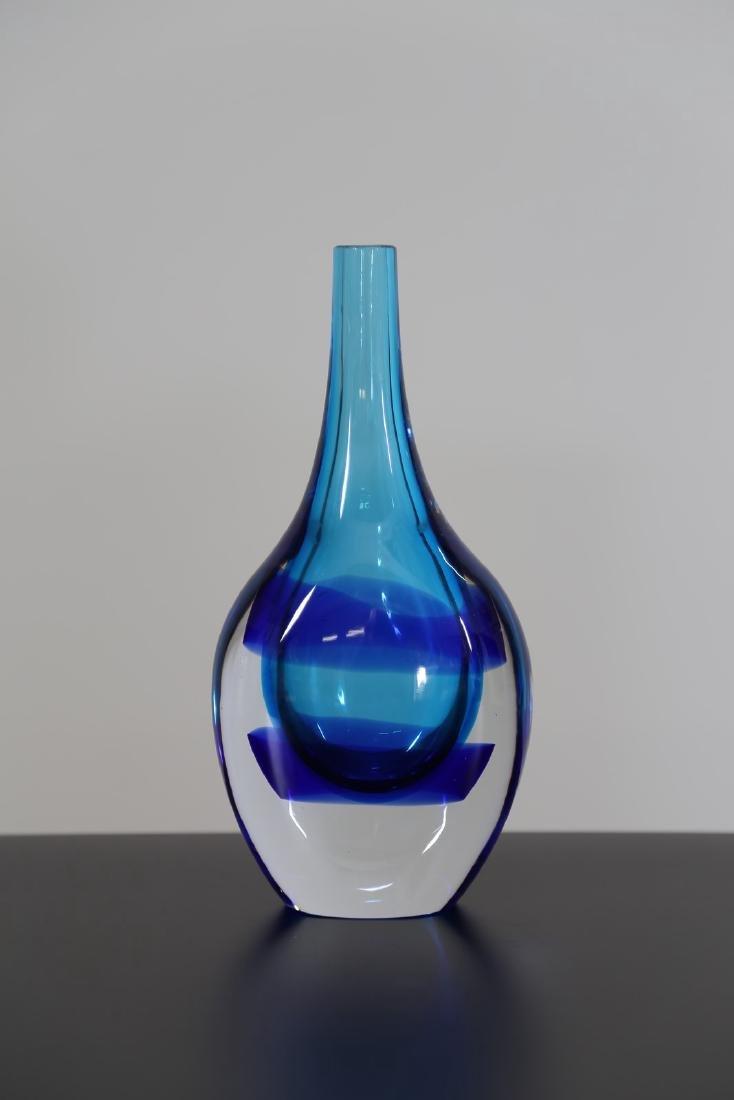 LUCIANO GASPARI Vaso bottiglia in vetro massello