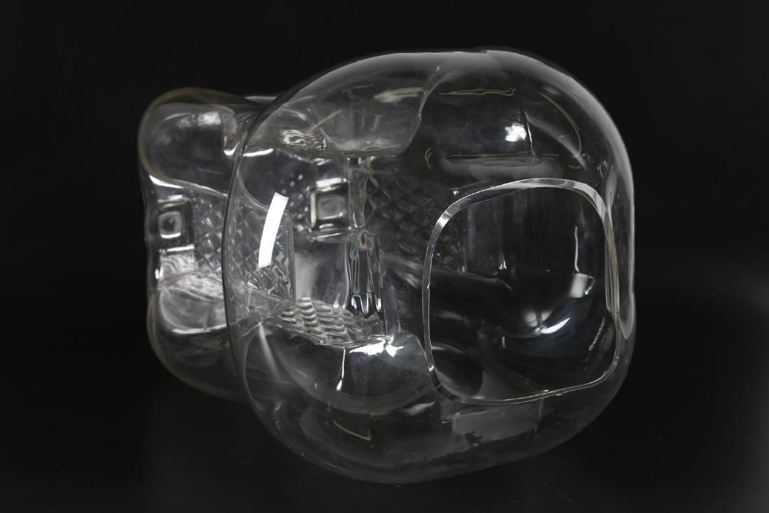 TONI ZUCCHERI Grande vaso in cristallo a quattro facce - 4
