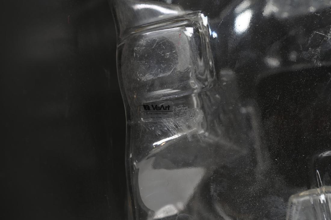 TONI ZUCCHERI Grande vaso in cristallo a quattro facce - 5