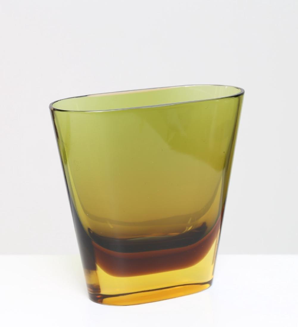 FLAVIO POLI Vaso in vetro sommerso per Seguso vetri