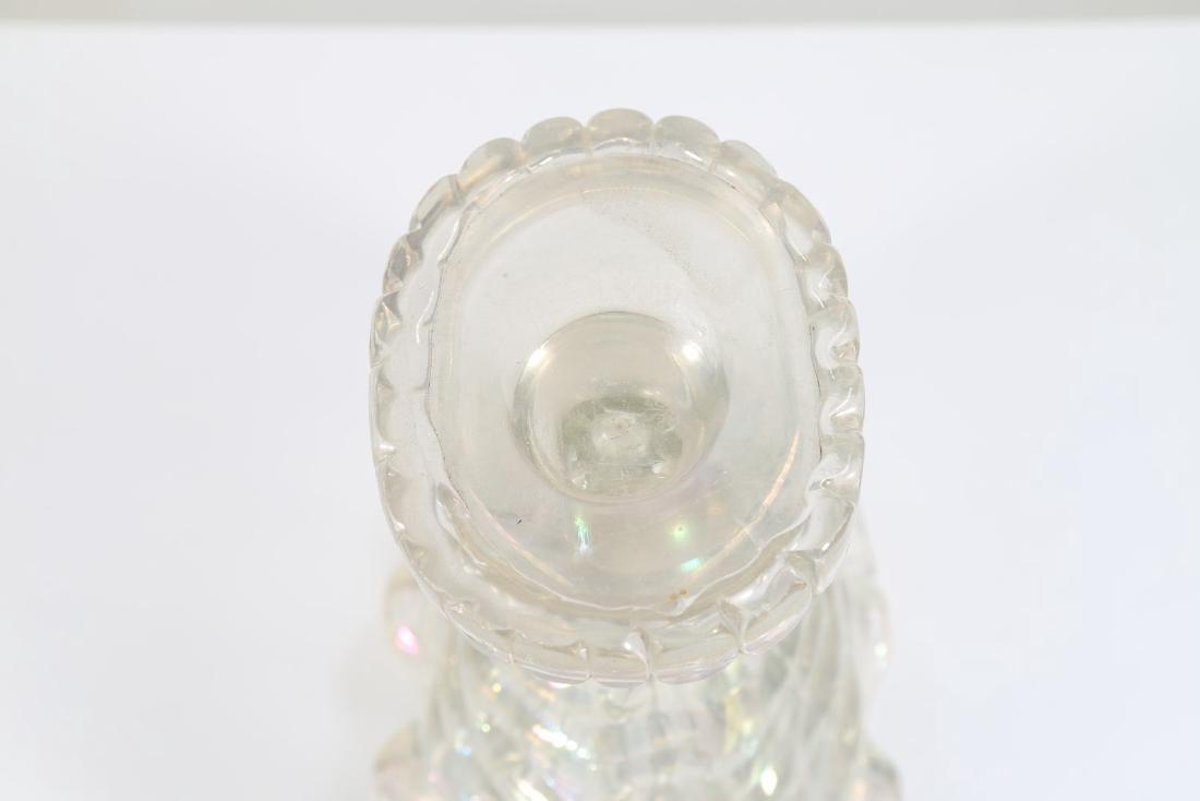 ERCOLE BAROVIER Vaso cornucopia in vetro irridescente - 4