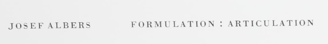 JOSEF ALBERS Formulation: articulation. - 4