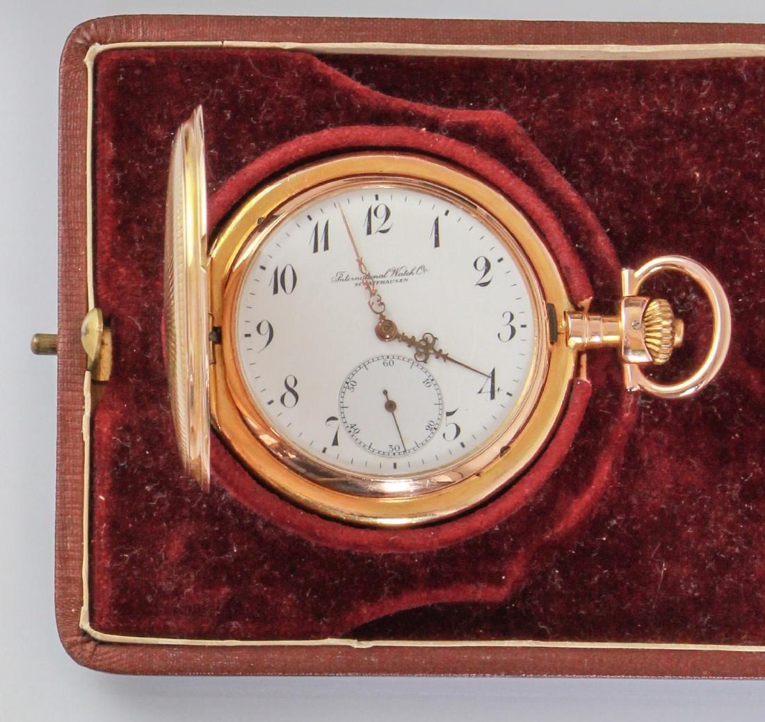 IWC  18kt pink gold IWC poket watch savonette.