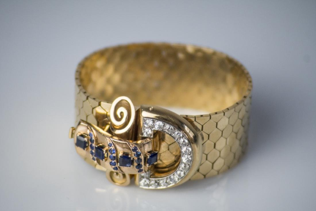 [Nessun Autore] 18kt gold brooch, gr 98.50. With