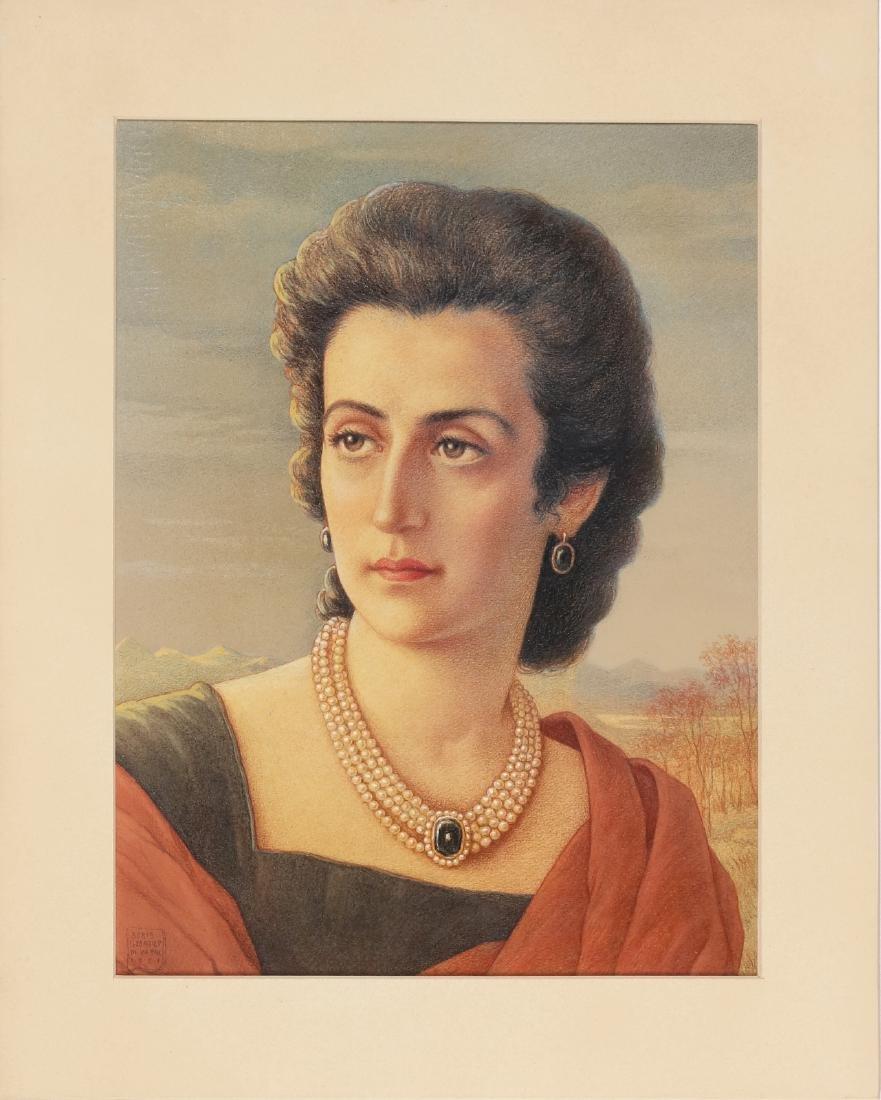 BORIS GEORGIEV Woman's portrait.