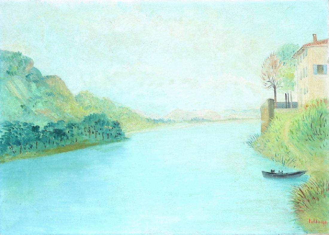 UMBERTO LILLONI The Adda river in Pescarenico.