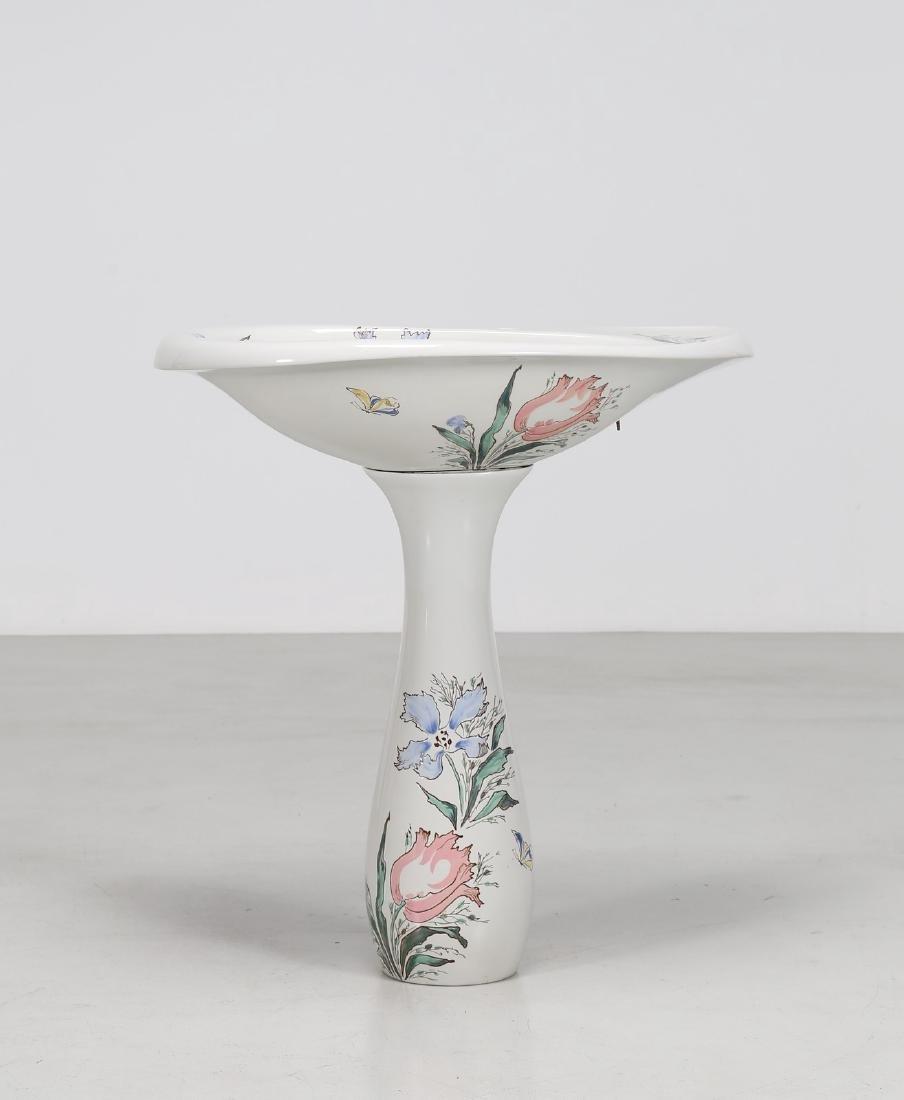 ANTONIA CAMPI Lavabo in ceramica serie Torena anni 50.