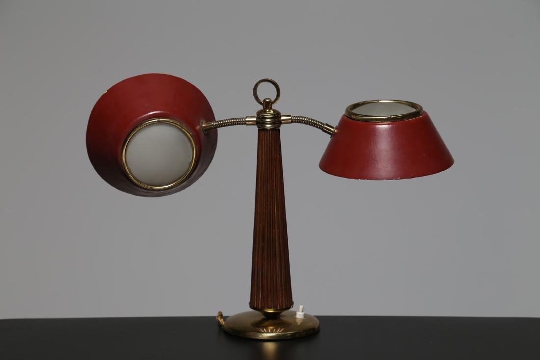 ARREDOLUCE  Lampada da tavolo in ottone metallo laccato