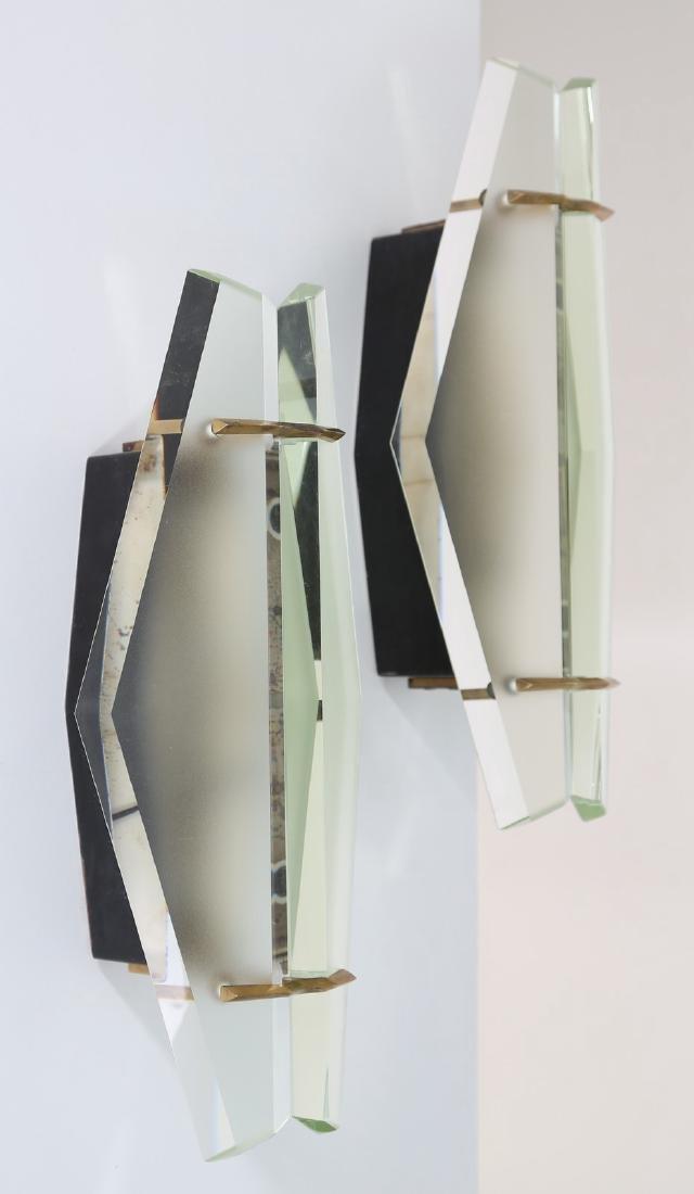 MAX INGRAND Coppia di lampade da parete in vetro