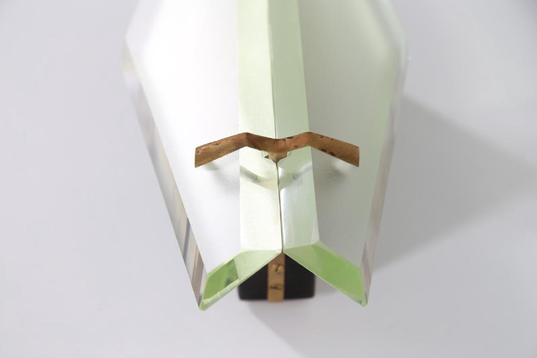 MAX INGRAND Coppia di lampade da parete in vetro - 3