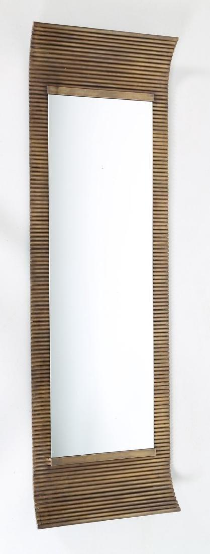 ETTORE SOTTSASS Specchio da muro con cornice in ottone
