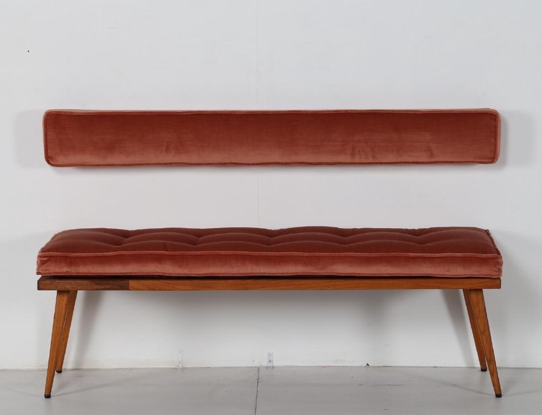 ICO PARISI Panchetta con schienalino a muro in legno e - 2