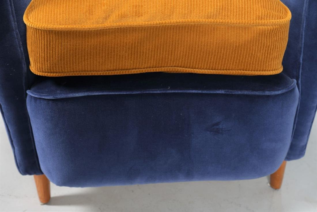 ICO PARISI Coppia di poltrone in legno e tessuto, - 7