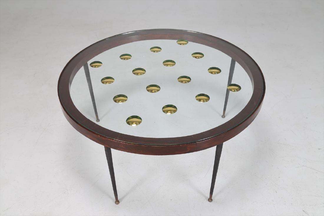 CRISTAL ART TORINO  Tavolino in legno, metallo, ottone, - 2