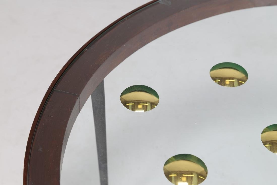 CRISTAL ART TORINO  Tavolino in legno, metallo, ottone, - 3