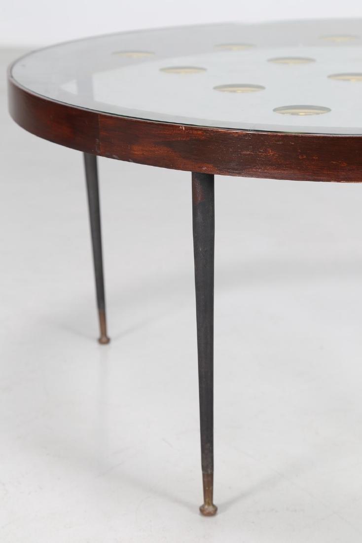 CRISTAL ART TORINO  Tavolino in legno, metallo, ottone, - 4