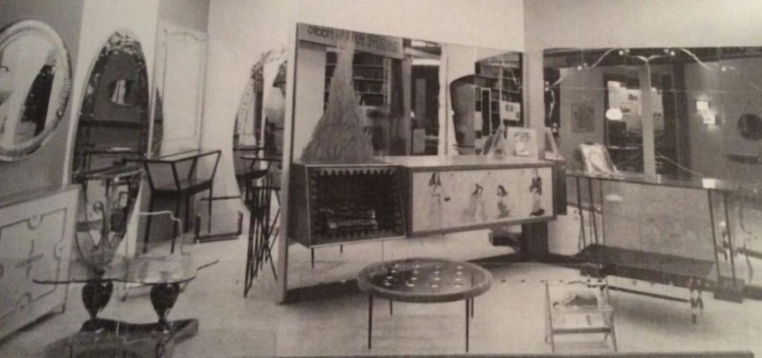 CRISTAL ART TORINO  Tavolino in legno, metallo, ottone, - 5