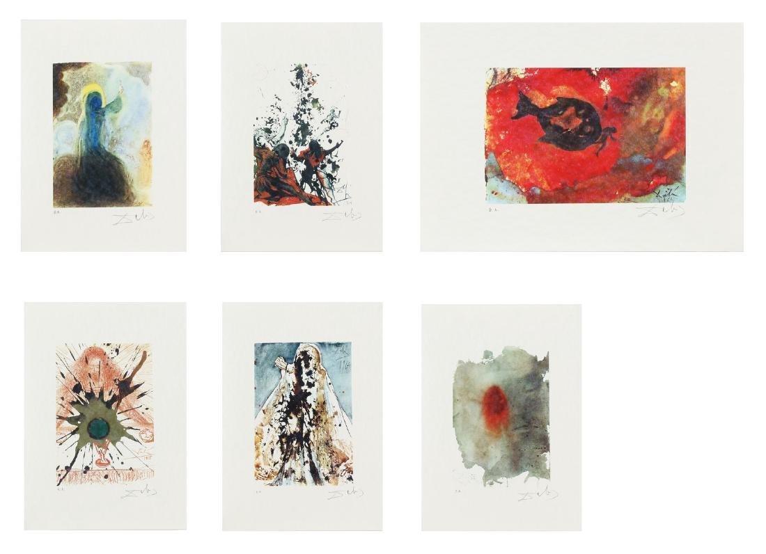 SALVADOR DALI' Cartella contenente 6 litografie.