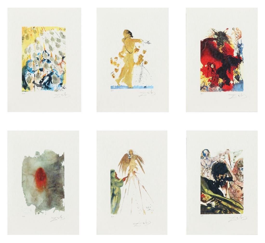 SALVADOR DALI' Cartella contenente 6 litografie. .