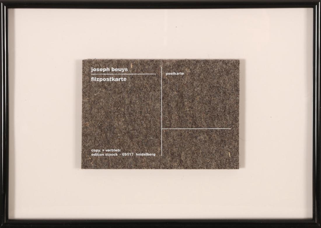 JOSEPH BEUYS Filzpostkarte.