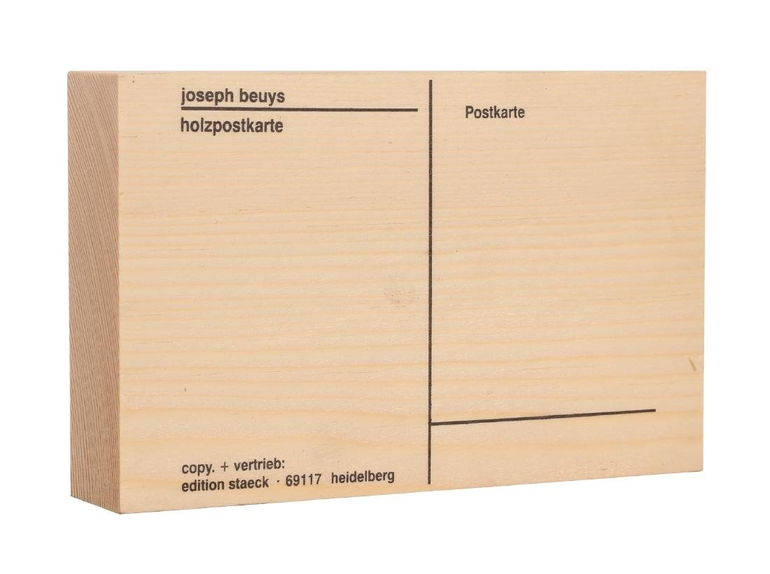 JOSEPH BEUYS Holzpostkarte.