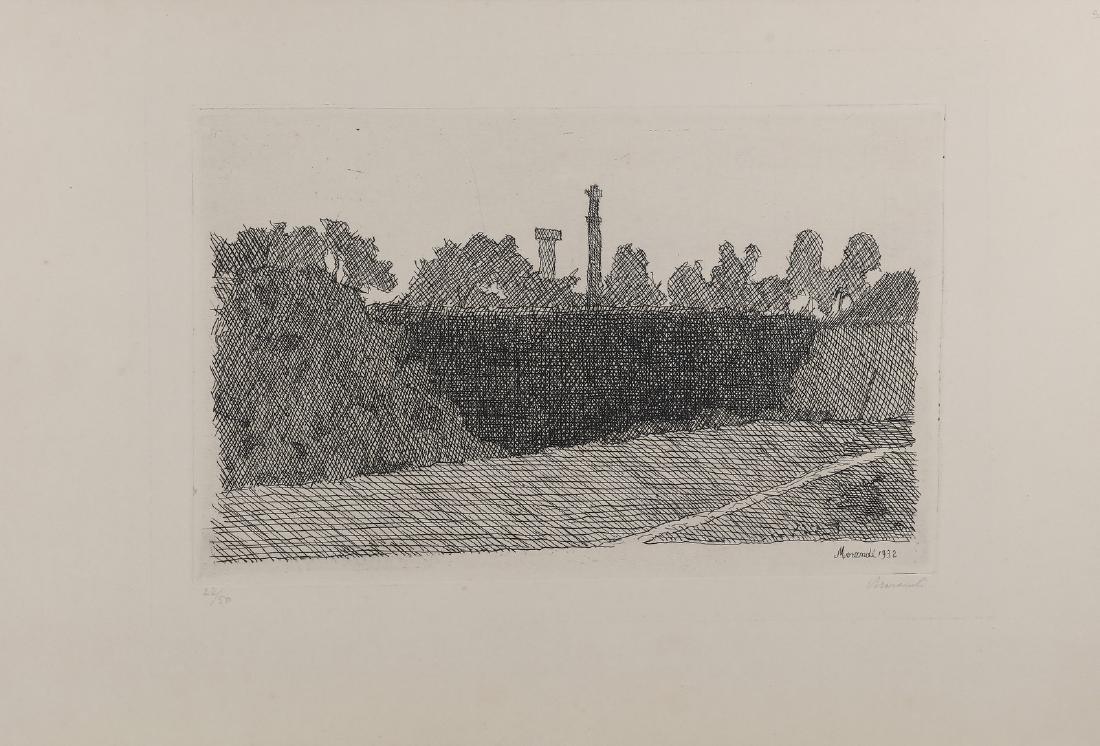 GIORGIO MORANDI View of the Montagnola, Bologna.