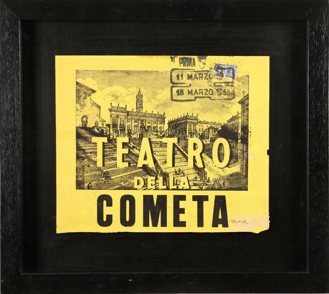 MIMMO ROTELLA Comet theater.