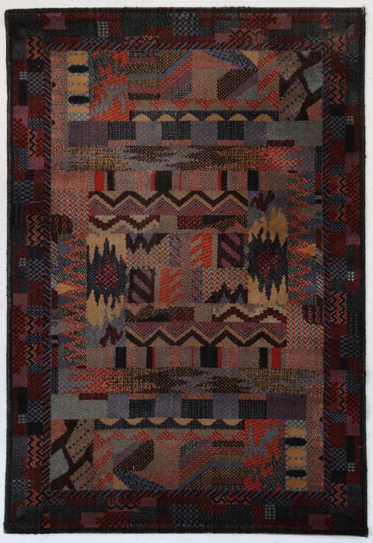 MANIFATTURA ITALIANA  Tappeto in lana, anni 60/70.