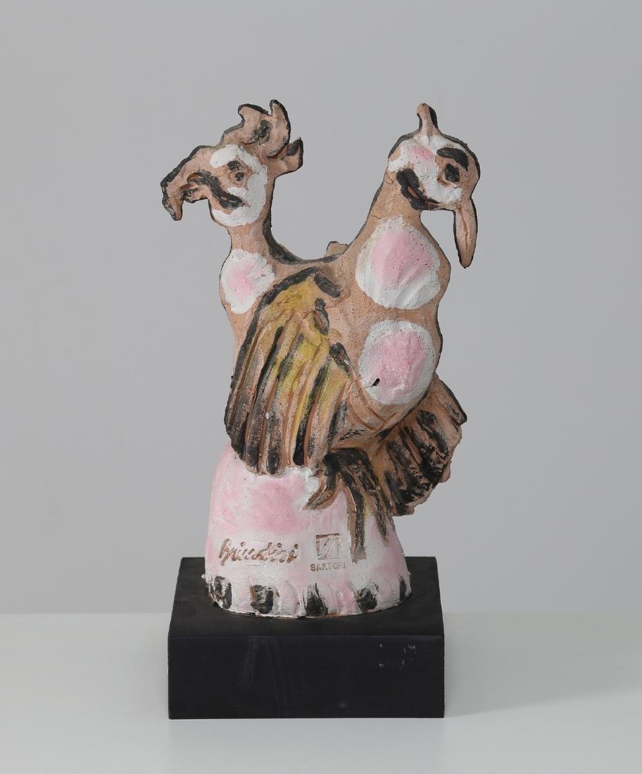 REMO BRINDISI Scultura in ceramica, esecuzione Cesare