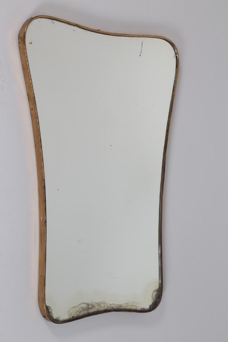 MANIFATTURA ITALIANA  Specchio in ottone e vetro anni