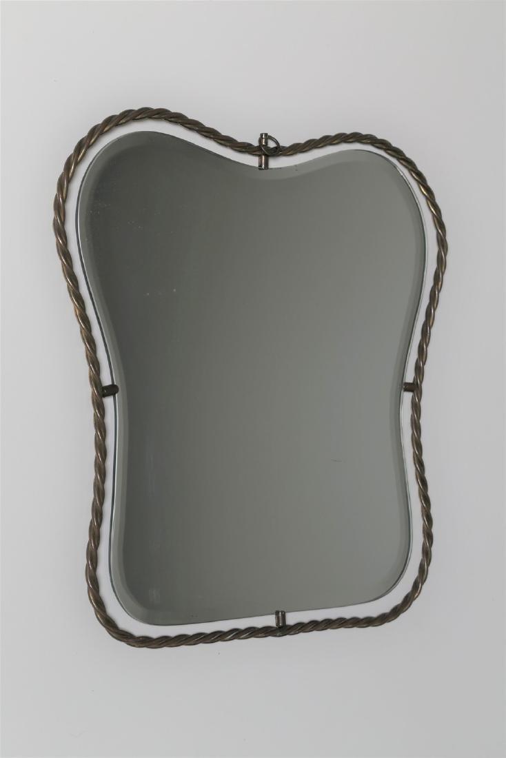 MANIFATTURA ITALIANA  Specchio in ottone tortile e