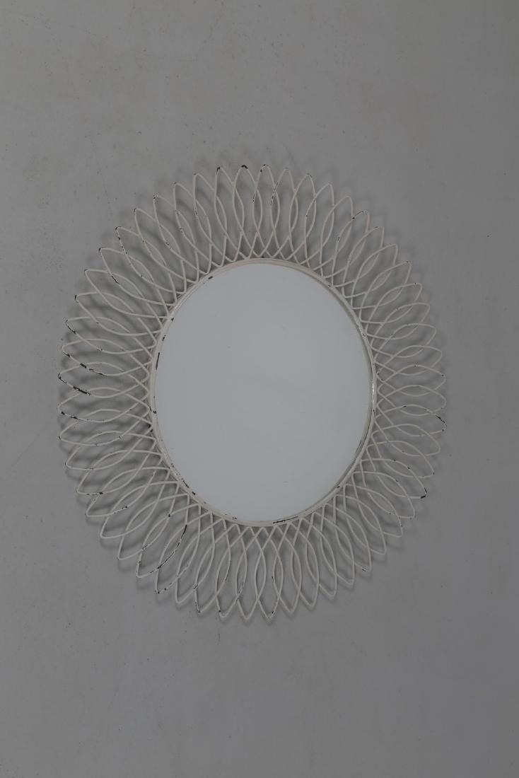 MANIFATTURA ITALIANA  Specchio in metallo laccato e