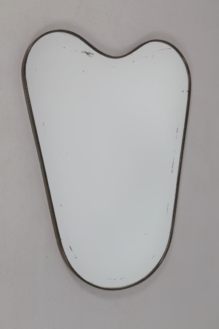 MANIFATTURA ITALIANA  Specchio in ottone e vetro, anni