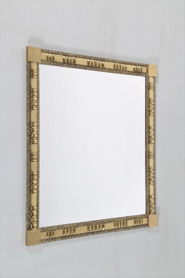 FRIGERIO DI DESIO  Specchio da parete in ottone e