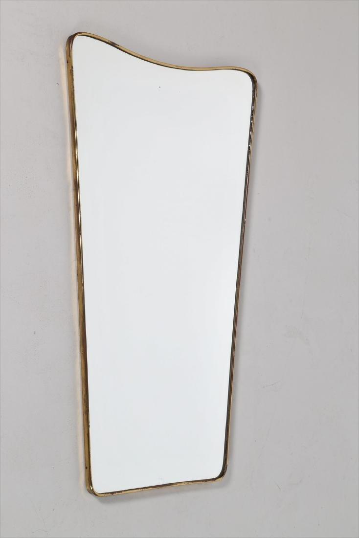 GIO' PONTI Attrib. Specchio da parete in vetro e bordo