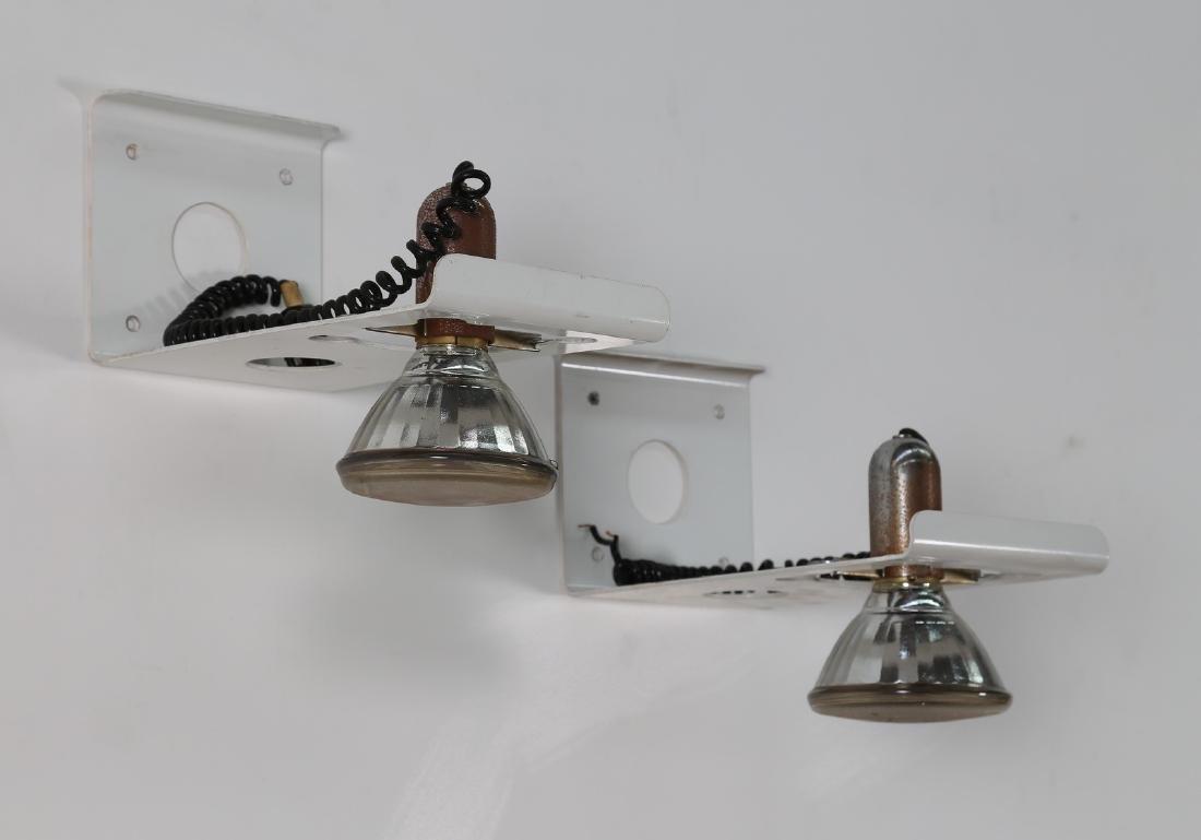 EZIO DIDONE Coppia di lampade da parete in metallo
