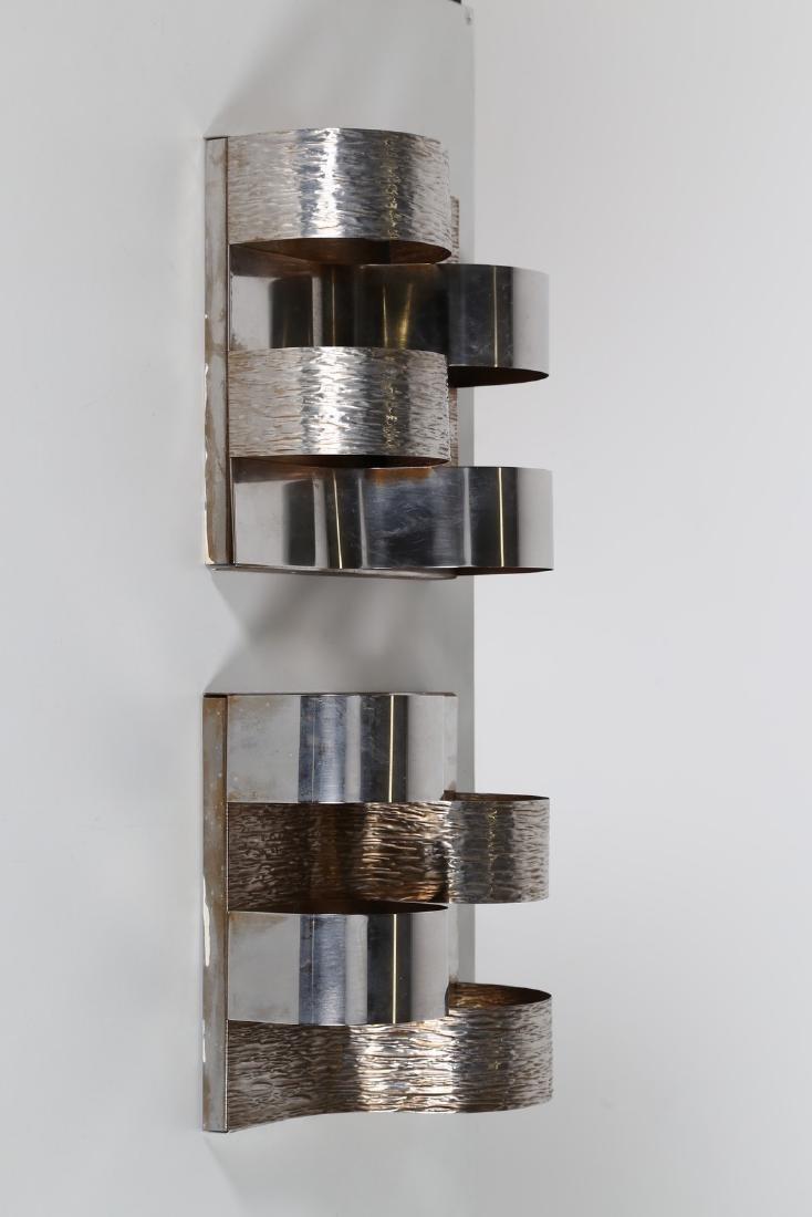 GOFFREDO REGGIANI Coppia di lampade da parete in