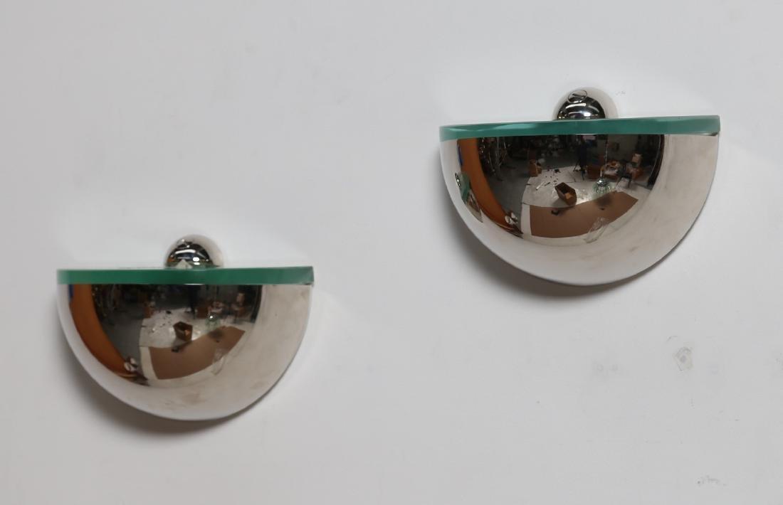 PIETRO CHIESA Coppia di lampade da parete in metallo