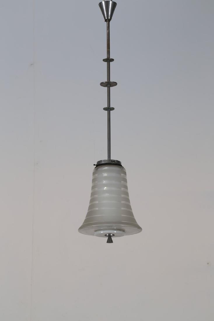 PHILIPS Lampada a sospensione in metallo cromato e