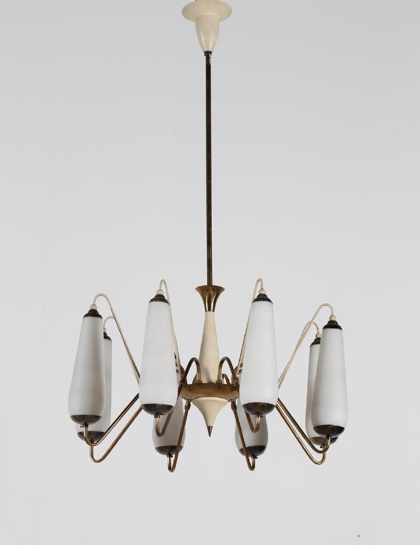 MANIFATTURA ITALIANA  Lampadario in ottone metallo
