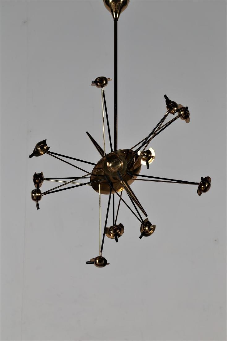 OSCAR TORLASCO Lampadario in ottone e metallo laccato,