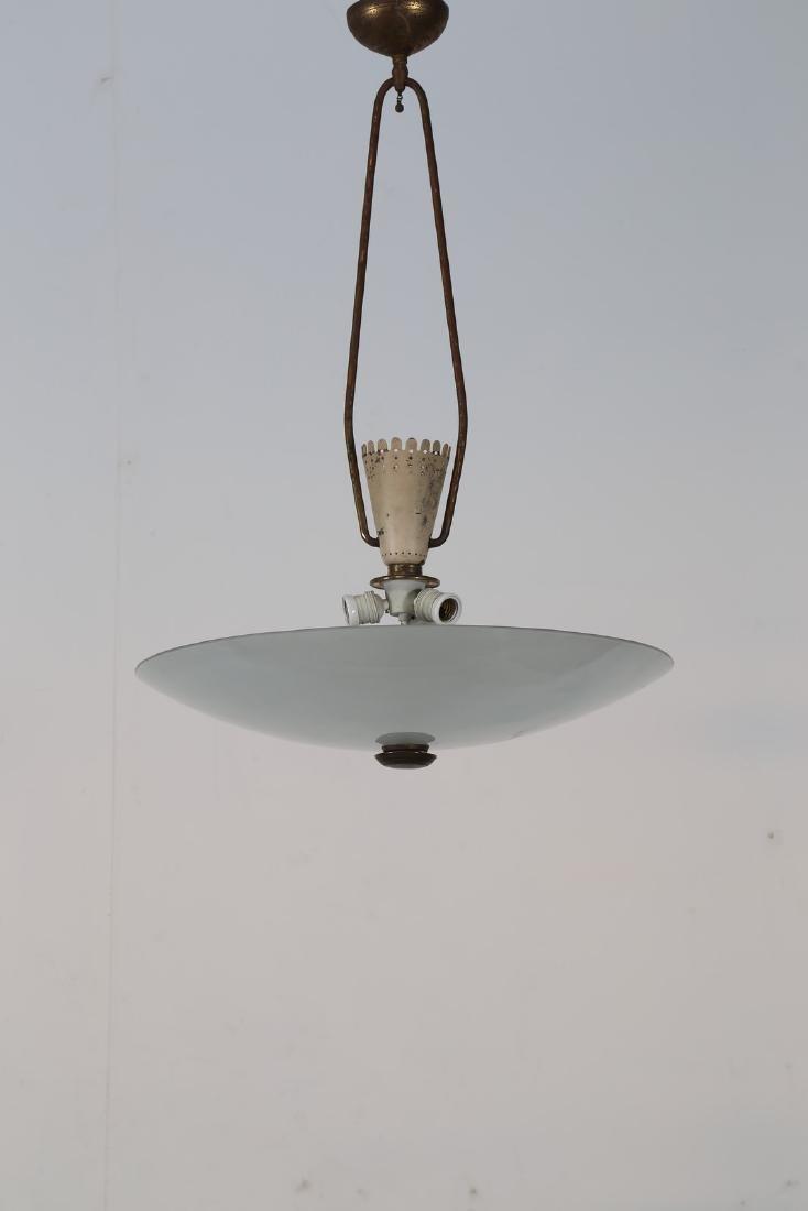 PIETRO CHIESA Attrib. Lampada da soffitto in ottone