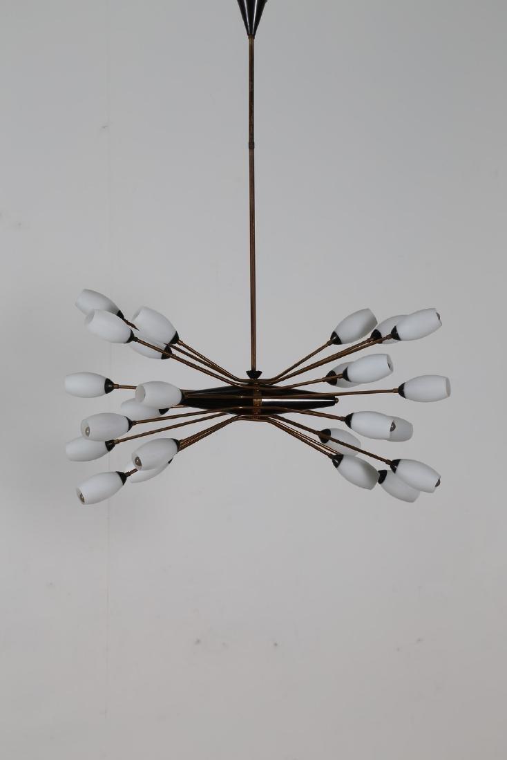 OSCAR TORLASCO Lampadario in ottone metallo laccato e
