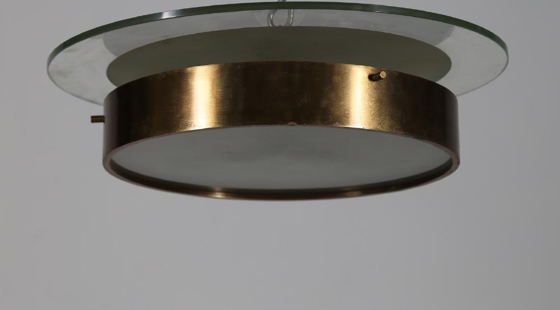 STILNOVO  Grande plafoniera in ottone metallo laccato
