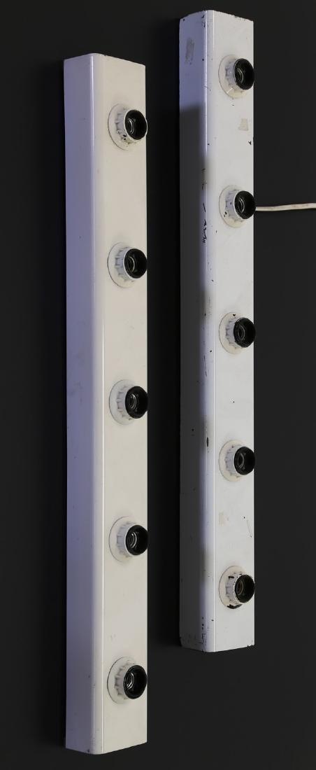 GINO SARFATTI Coppia di lampade in metallo laccato per