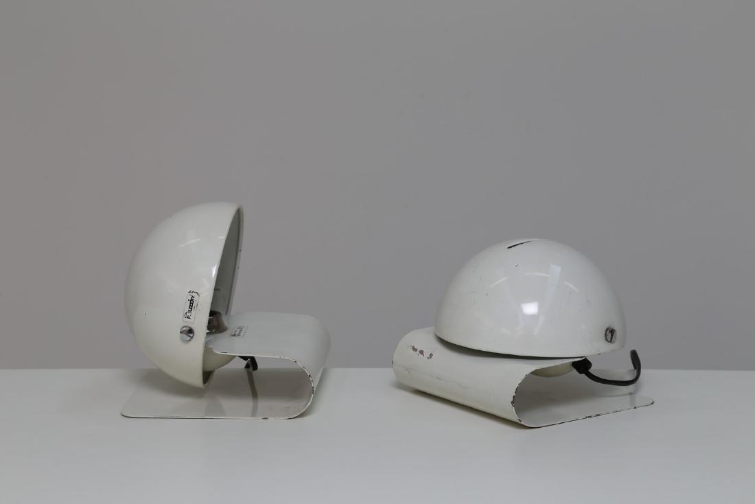 GIUSEPPE  CORMIO Coppia di lampade da tavolo in metallo