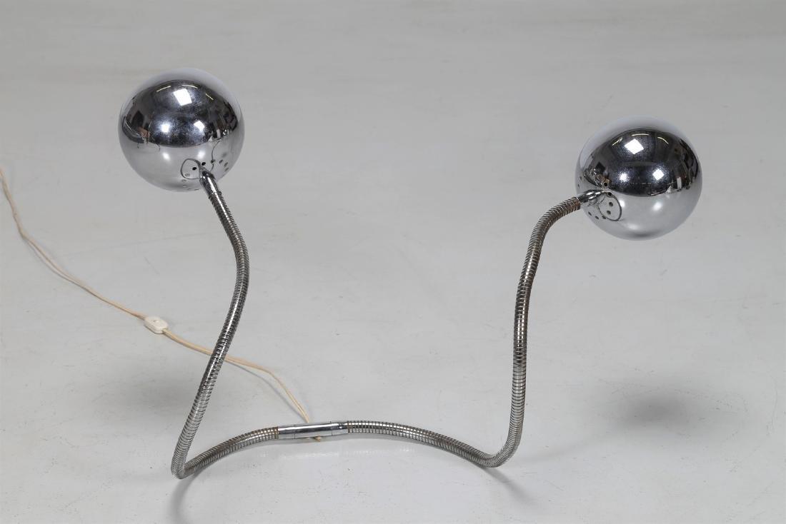 REGGIANI  Lampada da tavolo in metallo cromato