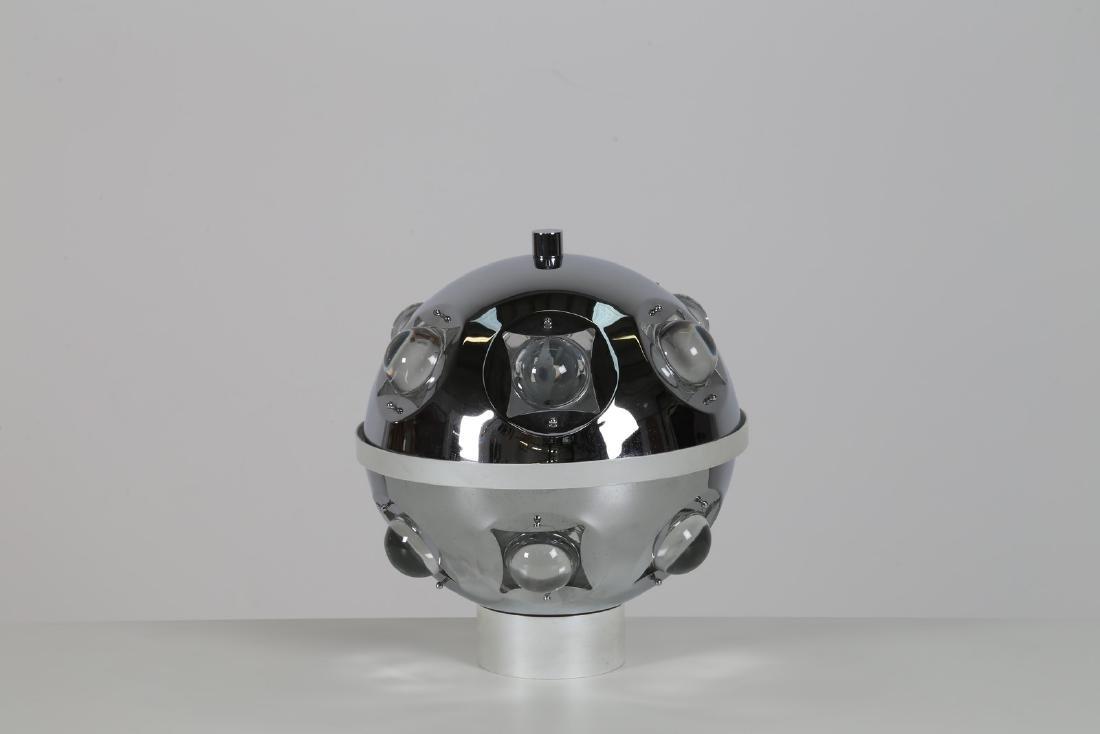 OSCAR TORLASCO Lampada da tavolo in metallo cromato